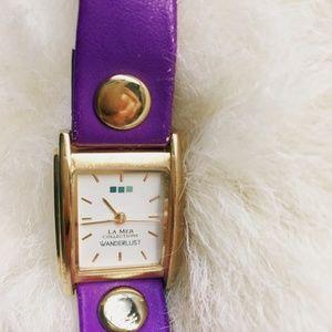 La  mer wonderlust collection wrap purple watch